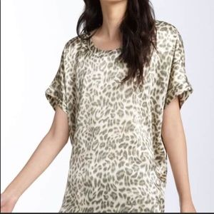 Joie 'Joann C Animal Print Silk Top size Medium